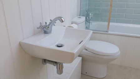 One of three bathrooms installed in a Fulham property